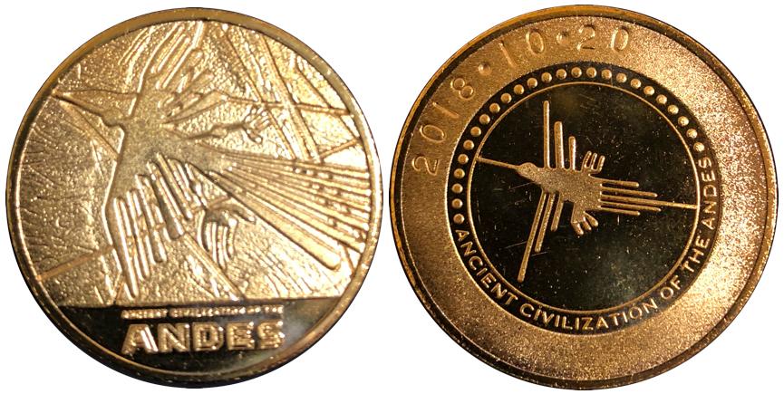 古代アンデス文明展記念メダル