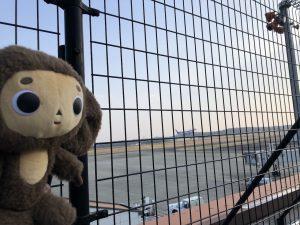 岡山桃太郎空港 離陸