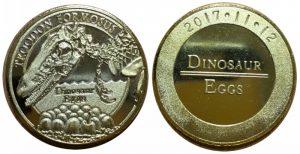 恐竜の卵記念メダル