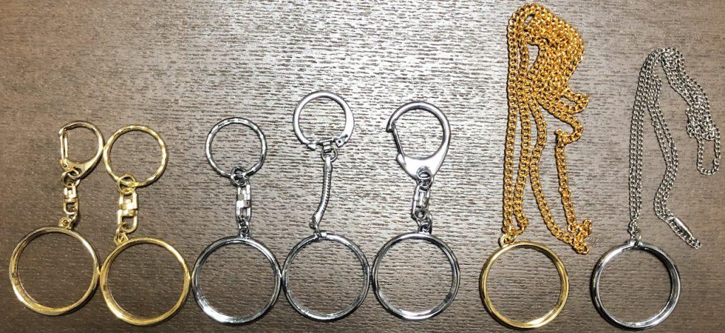 記念メダルキーホルダー ネックレス