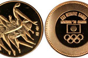 モントリオールオリンピック記念メダル32ミリ