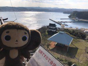 平戸城から見える海の景色
