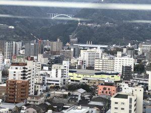 別府タワー 展望室からの景色