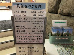 福山城 入り口案内板