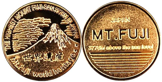 富士山記念メダル ゴルフマーカー