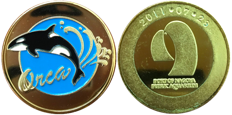 名古屋港水族館 記念メダル オルカ カラー