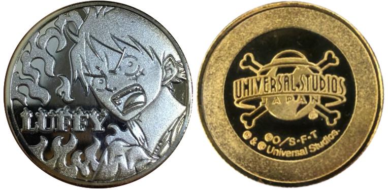 ユニバーサル・スタジオ・ジャパン 記念メダル ワンピース  ルフィ