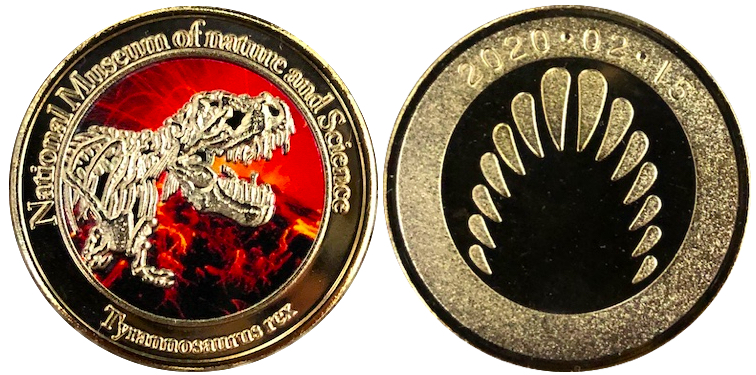 国立科学博物館 記念メダル ティラノサウルス 火山