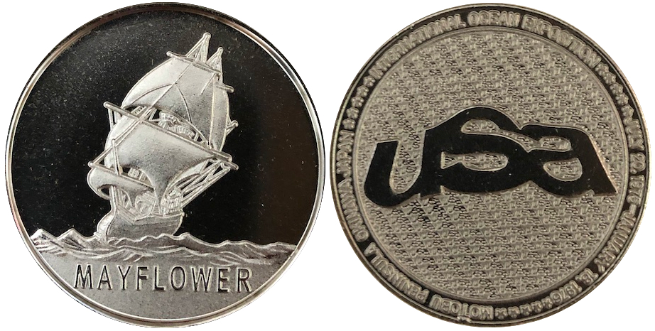 沖縄国際海洋博覧会 海洋博 EXPO'75 記念メダル メイフラワー号 38ミリ