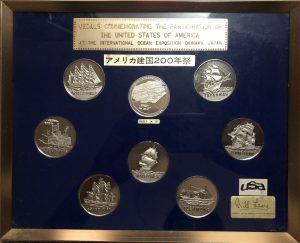 アメリカ建国200年祭 記念メダル 額装