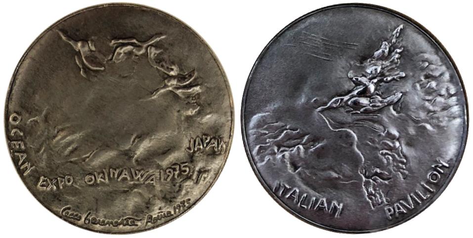 沖縄国際海洋博覧会 海洋博 EXPO'75 記念メダル イタリア 銀 38ミリ