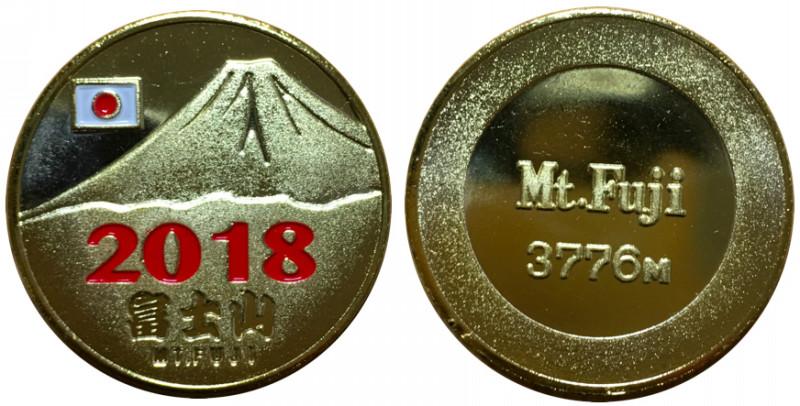富士山 記念メダル 西暦 2018 赤