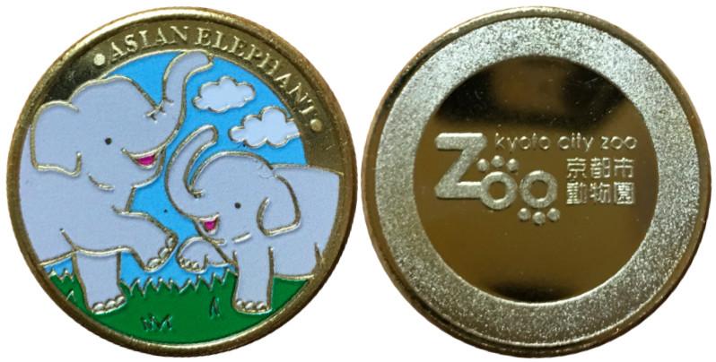京都市動物園記念メダル ゾウ